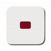 Клавиша с красной линзой для выкл/перекл/кнопк альпийский белый Reflex SI