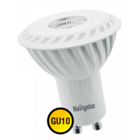 Лампа светодиодная 5 Вт 230В GU10 d=51mm, тёплый белый 94 264
