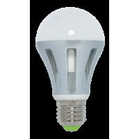 Лампа светодиодная 8 Вт 230В Е27 колба А60, алюминий сплав, тёплый белый