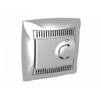 Термостат для теплого пола с датчиком от +5 до +50°C серебро Дуэт