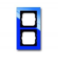 Рамка 2 поста цвет синий Axcent