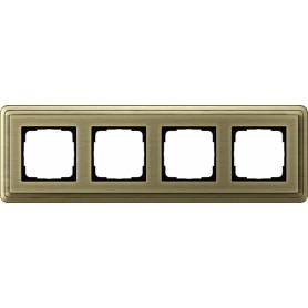 Рамка 4 поста бронза/бронза CassiX