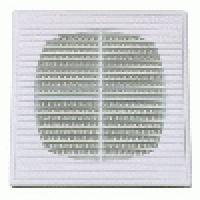 Решетка вентиляционная разъемная с москитной сеткой прямые жалюзи малое сопротивление воздуха 150х150 мм