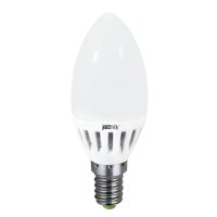 Лампа светодиодная 3,5 Вт 230В Е14 свеча, термопластик, холодный белый