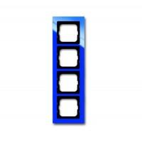 Рамка 4 поста цвет синий Axcent