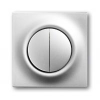Клавиша для выключателя/переключателя 2 клавишного с подсветкой серебристый металлик Impuls