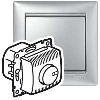Светорегулятор 100-1000Вт поворотный алюминий Valena