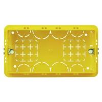 Коробка для твердых стен  4 модуля, 130х71х52
