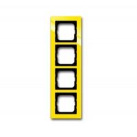 Рамка 4 поста цвет жёлтый Axcent