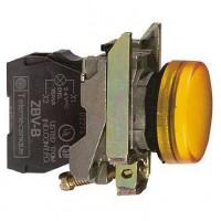Сигнальная лампа жёлтая 22 мм со встроенной LED подсветкой 24В AC/DC