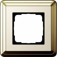 Рамка 1 пост латунь/кремовый CassiX