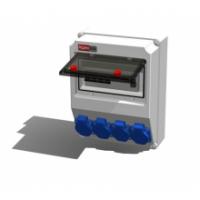 Alpenbox, розетка встр 16А/250В/3П/IP54 - 4 шт