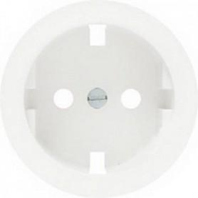 Накладка для розетки 2Р+Е с винтовыми клеммами белый Celiane