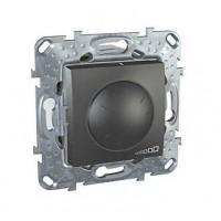 Диммер поворотный для ламп накаливания и галогенных ламп 230В, 40-1000Вт графит Unica Top
