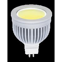 Лампа светодиодная 8 Вт 230В GU5.3 d=51mm, Chip-On-Board, алюминий, тёплый белый