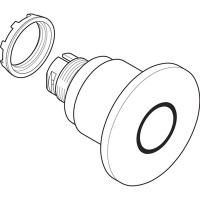Кнопка грибок красная (только корпус) с усиленной фиксацией 60мм отпускание поворотом тип MPMT4-10R