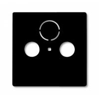 Накладка для антенной розетки TV+FM шато черный Basic 55