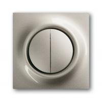 Клавиша для выключателя/переключателя 2 клавишного с подсветкой шампань-металлик Impuls