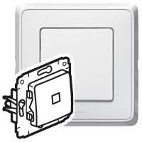 Выключатель 1 клавишный с индикацией/подсветкой белый Cariva