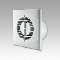 Вентилятор осевой 140 куб.м/час 18 Вт 220 В для настен. и потолоч.монтажа (диам.шахты 120мм)  с обрат.клапаном серия  SLIM
