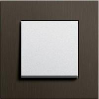 Рамка 1 пост коричневый алюминий ESPRIT