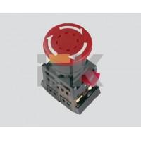 Кнопка управления Грибокс фиксацией красная 230В d22мм 1з+1р IP40 тип AEAL-22