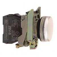 Лампа сигнальная белая со встроенной LED подсветкой 230-240В АС