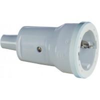 Розетка кабельная ПВХ 16A, 2P+E, 250V, (серый), ABL