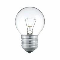Лампа накал. шар 25 Вт, E27, прозрачный