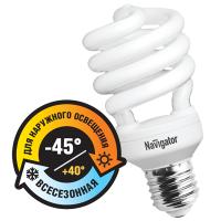 Лампа энергосберегающая 28 Вт Е27 2700К спираль теплый Морозостойкая 94 292