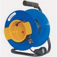Удлинитель на катушке 1 розетка, 50 м, d=240мм, термозащита ПВС 2х1