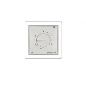 Терморегулятор накладной с датчиком пола 3м с регулятором (t= +5+45 С) белый IP31  Д-130