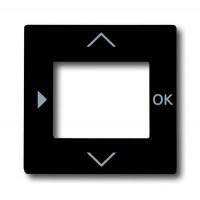 Накладка для терморегулятора с таймером антрацит solo/future
