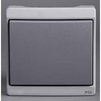 Выключатель 1 клавишный встраиваемый (для ENN377**) IP55 серый Mureva