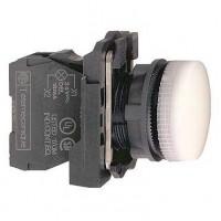 Сигнальная лампа белая 22 мм с цоколем BA 9s для лампы накаливания до 250В АС
