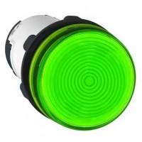 Лампа сигнальная зеленая 230В AC лампа накаливания 130В, 2,6Вт