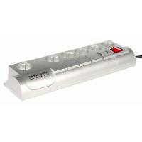 Сетевой фильтр 5+1 розетка, 3 м, металлик, страховка, телефонная защита Garant