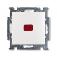 Переключатель 1 клавишный с подсветкой альпийский белый Basic 55