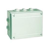 Коробка монтажная распределительная 100х100х50 мм с крышкой для открытого монтажа, 6 вводов, IP 55