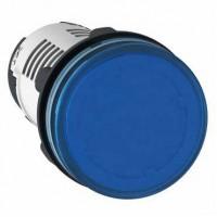 Лампа сигнальная синяя 24В AC/DC светодиод