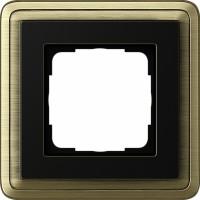Рамка 1 пост бронза/черный CassiX