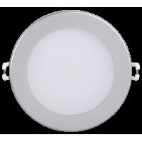 Светильник ДВО 1606 серебро круг LED 12Вт 4000 IP20