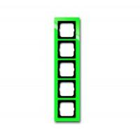 Рамка 5 постов цвет зеленый Axcent