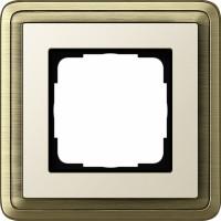 Рамка 1 пост бронза/кремовый CassiX
