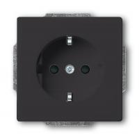 Розетка 2Р+E 10/16А 250В антрацит solo/future