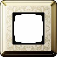 Рамка 1 пост латунь/кремовый CassiX Art
