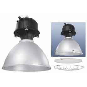 Светильник  подвесной для  ДРИ 250 Вт  Е40, ст+сет, рассеиватель алюминевый