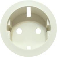 Накладка для розетки 2Р+Е с пружинными клеммами слоновая кость Celiane