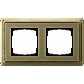 Рамка 2 поста бронза/бронза CassiX