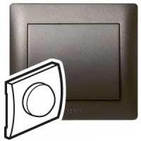 Накладка  для светорегулятора поворотного темная бронза Galea Life